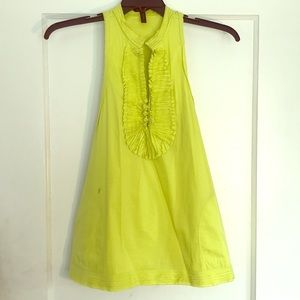 BCBG MaxAzria lime sleeveless dress shirt